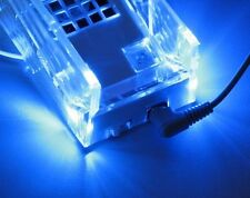 Cooling Fan Crystal Stand with Blue LED Light for Nintendo Wii
