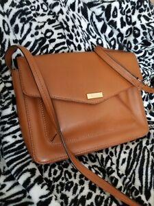 9f8eafb3ca Image is loading Lauren-Ralph-Lauren-Cowhide-leather-purse-shoulder-strap-