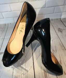 0cf51720bc9 Cole Haan Shoes Carma OT Air Pump Black Patent Peep Toe Heels ...