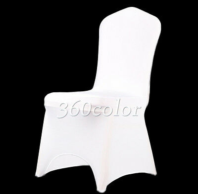 50 White Lycra Chair Cover Spandex Stretch Wedding Party Banquet Decorations