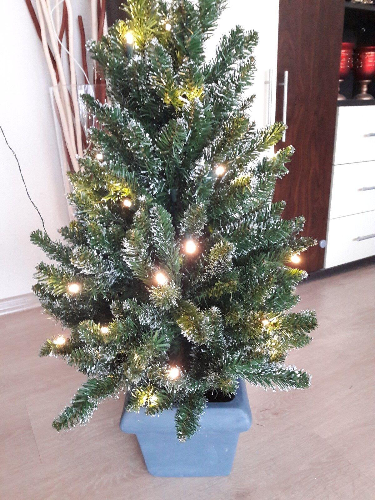 Künstl. Tannenbaum Tannenbaum Tannenbaum Weihnachtsbaum mit Lichter grün weiß 90 cm Top Zustand | Qualitativ Hochwertiges Produkt  707282
