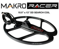 Makro Racer 15.5 X 13 Dd Metal Detector Search Coil With Cover & Hardware Kit