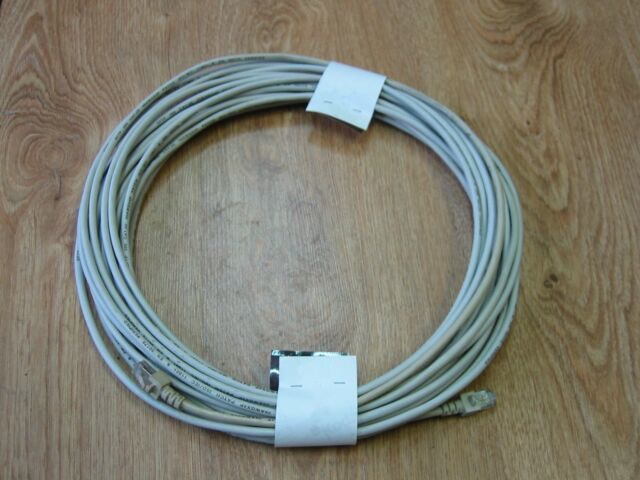 15m Netzwerkkabel    Cat5e für Ethernet LAN & DSL    2x RJ45 Stecker