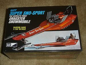 MPC Rupp Super Sno-Sport World's First Dragster Snowmobile 1/20 scale ...