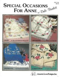 Special-Occasions-for-Anne-Cloth-Afghans-Dale-Burdett-DB-7139-Cross-Stitching