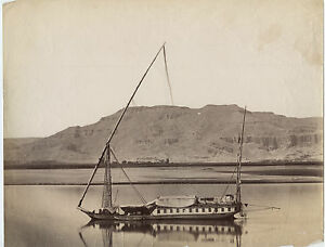 Egitto Vallata Re Albumina Vintage Albume D'Uovo Ca 1870