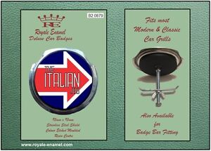 Royale Car Grill Badge + Fittings - THE ITALIAN JOB MINI MOD - B2.0879