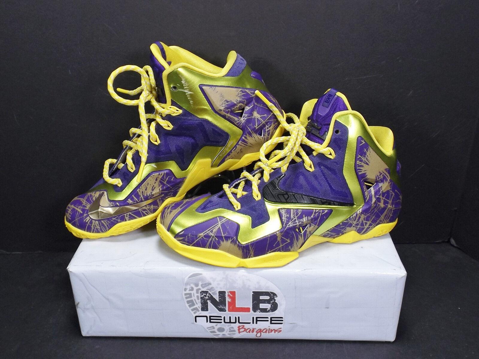 Nike ID Lebron XI (11) Riff Raff  641217-998 Yellow/Purple Men's Size 6