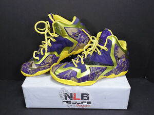 8d3f2f4df35 Nike ID Lebron XI (11) Riff Raff 641217-998 Yellow Purple Men s Size ...