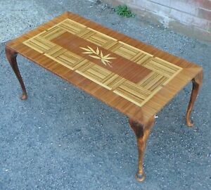 Super Details About Unusual 1950S Vintage Calamander Purple Heart Wood Marquetry Coffee Side Table Interior Design Ideas Gresisoteloinfo