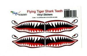Flying-Tigers-shark-teeth-decal-1-034-t-x-2-5-034-WWII-plane-canoe-stickers-airplane