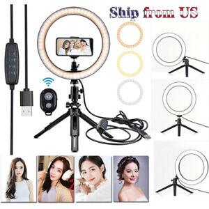 10-034-Maquillage-remplir-Lumiere-DEL-Anneau-Avec-Trepied-Support-Telephone-a-Distance-Kit-pour