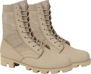 Desert Tan Panama Sole Combat Boots Military 8