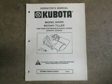 Kubota G4000 G 4000 Rotary Tiller Owners Amp Parts Manual