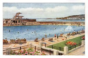 Swimming Pool Weston Super Mare Postcard 1948 Ebay