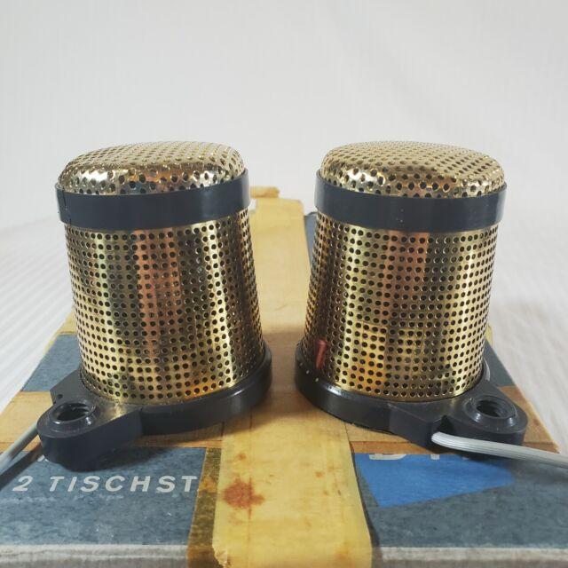 Vintage 1960's Telefunken D77S Stereo Microphone Gold Mikrofon W/Box Germany