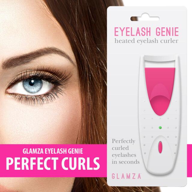 Glamza Heated Eyelash Curler Longer Lashes Makeup Curl Lash Electric
