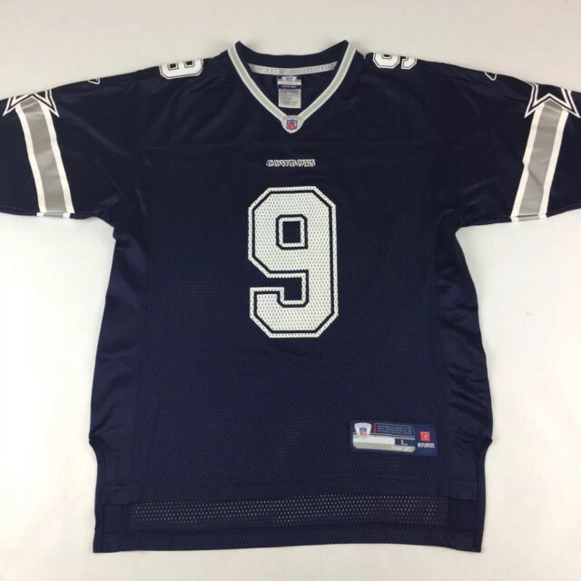31d7778ba87 Dallas Cowboys Tony Romo #9 NFL Jersey Youth Large 14-16 Reebok Authentic  Blue