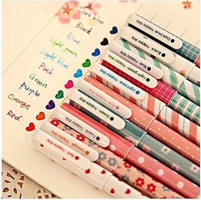 10 pcs/lot New Cute Cartoon Colorful Gel Pen Set Kawaii Korean Stationery Gift