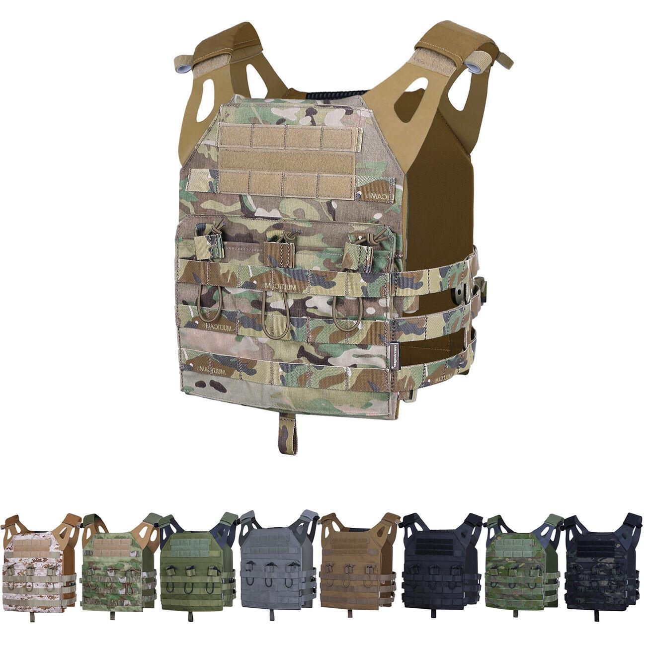 Emerson Tactical Jumpable Plate Carrier JPC Lightweight Vest Body Armor + Plates