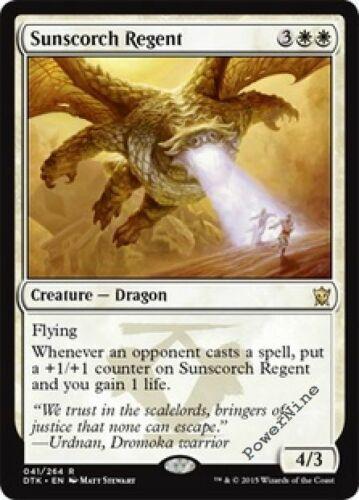 1 FOIL Sunscorch Regent White Dragons of Tarkir Mtg Magic Rare 1x x1