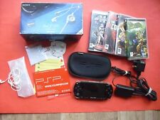 Item 4 PSP 1004 Giga Pack Black Handheld Console System Bundle Case Games Memory Card