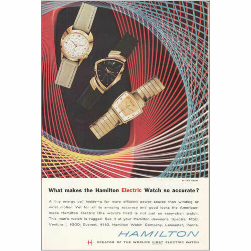 1958 Hamilton Watch So Accurate Vintage Print Ad