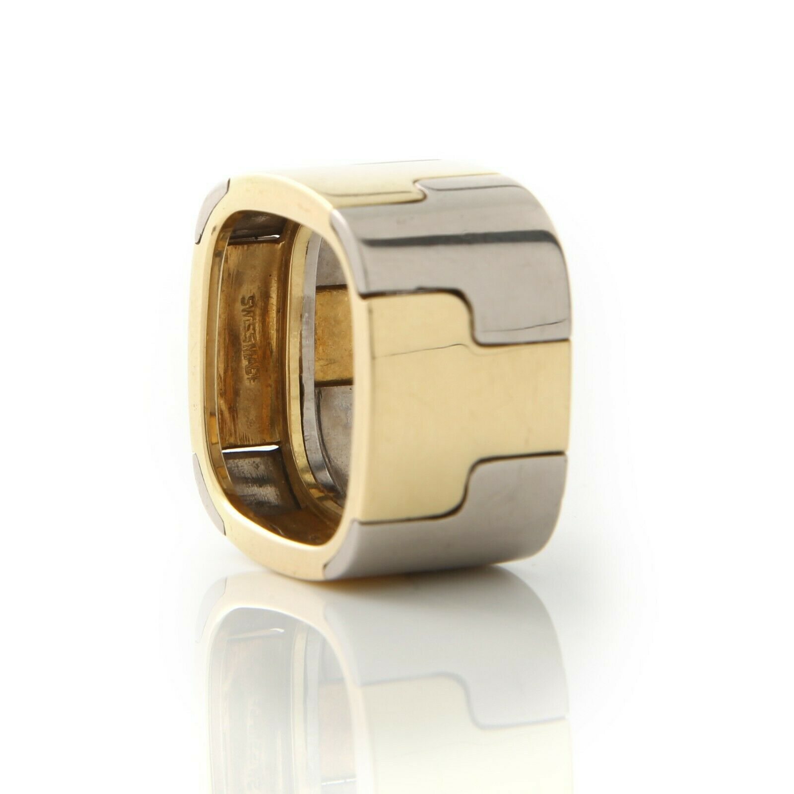 Gubelin, Contemporary, Wide 18k,Two-Tone Band - image 4