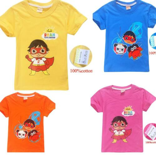 Ryan Toys Review kids T-Shirt Children tshirts Cotton Tee Tops party gift cotton