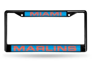 Miami Marlins Mlb Black Metal Laser Cut License Plate