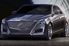 2014 Cadillac CTS Sedan Classic Upper Heavy Mesh Grille - Chrome Plated Steel