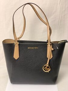 e22b688d7fc417 Image is loading NWT-MICHAEL-KORS-LEATHER-KIMBERLY-SMALL-BONDED-TOTE-