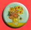 Starry Night Sunflowers 1 inch Artist VINCENT VAN GOGH BADGE BUTTON PIN 25mm
