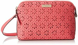 NWT-KATE-SPADE-Mandy-Cedar-Street-Leather-Perforated-HOT-PINK-CORAL-BAG-purse