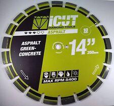 "14"" Premium Diamond Blade 20mm Segment U Gullet cuts Asphalt & Green Concrete"