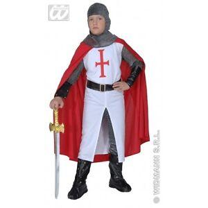 Vestito Cavaliere Bambino.Carnevale Costume Vestito Cavaliere Crociato Bambino 5 7 Anni Ebay
