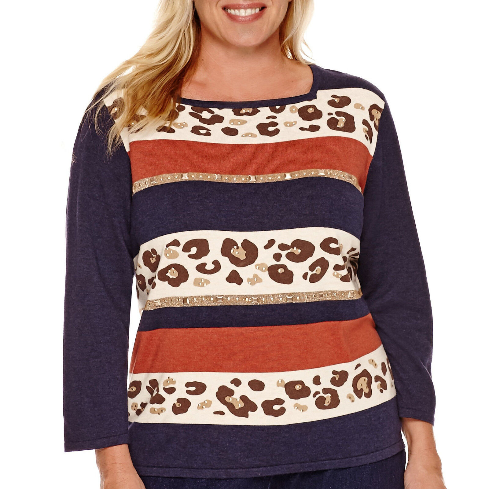 Alfred Dunner El Dorado 3 4-Sleeve Sweater Size 3X Msrp New
