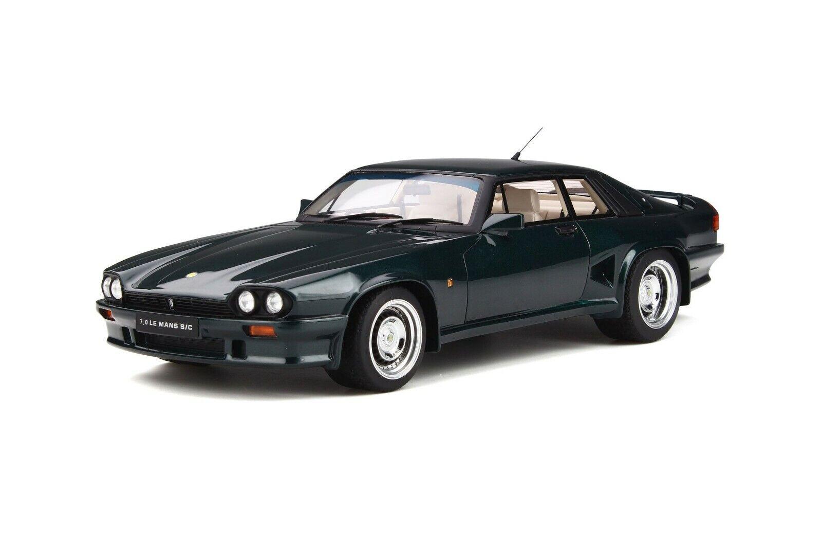 Jaguar Lister Coupe 7.0 s c v12 British racing verde 1991 GT Spirit resin 1 18