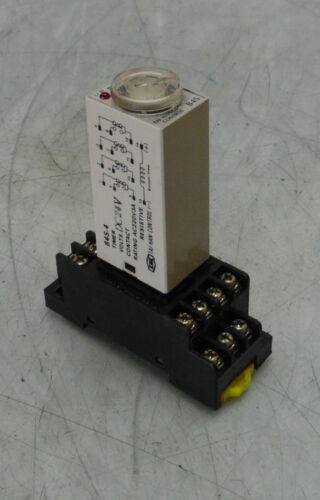 0-5 Range Adj B4S-4 Used w// Base Tai Han Timing Relay Warranty 24VDC