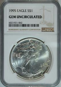 1995-American-Silver-Eagle-Dollar-1-999-Pure-Certified-NGC-GEM-BU
