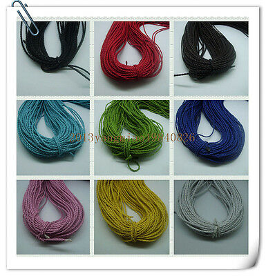 5/20 m 3mm Beautiful Bolo woven leather rope necklace bracelet with 9 Color
