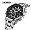 Curren-8023-2-Silver-Black-Stainless-Steel-Watch thumbnail 3