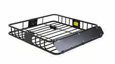 Universal Roof Rack Cargo Car Top Luggage Carrier Basket Traveling SUV Black New
