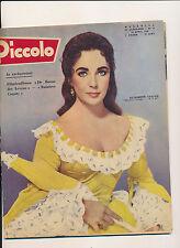 PICCOLO 58/15 (13/4/58) LIZ TAYLOR ROMY SCHNEIDER ELVIS PRESLEY CLIFFT BACALL
