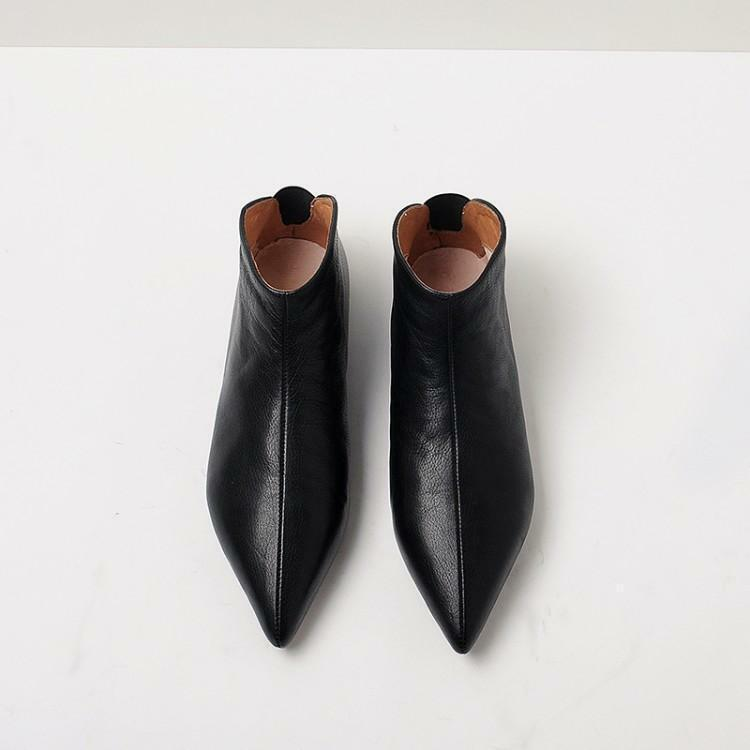 Vogue Women's lady Pointed Toe Flats Pull On Loafers Casual Ankle Boots shoes