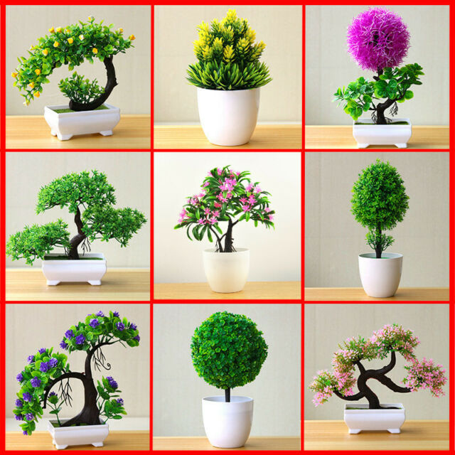 Artificial Flowers Outdoor Indoor Pot Culture Potted Plants Bonsai Ball Tree For Sale Online Ebay