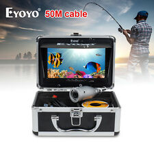 "50m Fish Finder Underwater Fishing Camera 7"" TFT FHD LCD+LED Lights 4500mAh IP68"