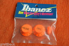 Boutons IBANEZ guitare Knobs JEM VAI universe RG ORANGE - OLD STOCK GENUINE