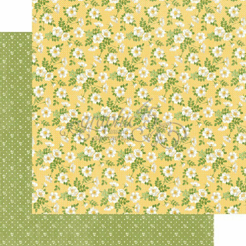 Secret Garden Collection Graphic 45  2 sheets pretty primrose 12 x 12 papers