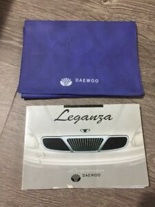 #16 Daewoo Leganza Owners Instruction Manual Drivers Handbook & Folder Book Pack